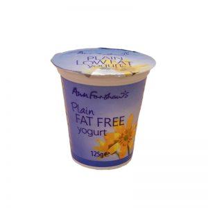 Ann Forshaw Low Fat Natural Yoghurt x125g